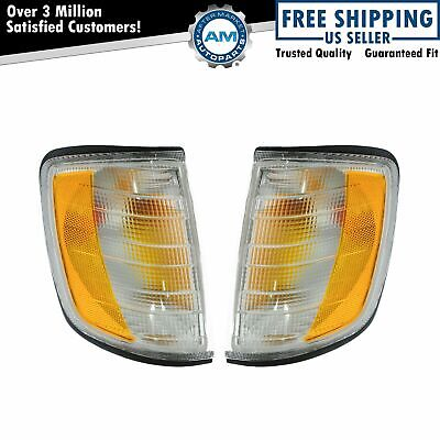 Turn Signal Side Marker Corner Lights Pair Set for 94-95 Mercedes E Class