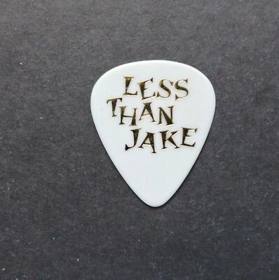 1990s LESS THAN JAKE CONCERT GUITAR PICK ! SHINY GOLD LETTERS ! VINTAGE ROCK W@W