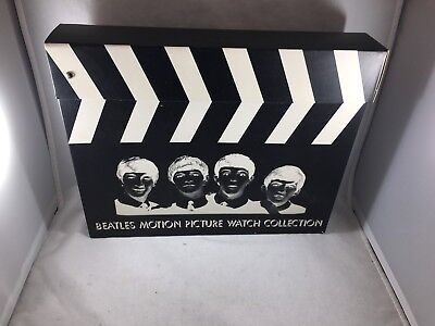 Lot of 3 NIB Beatles Watches All Apple Corps RARE Guitar Watch Case
