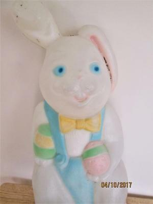 Vintage Empire Carolina Easter Bunny 15 Inch Plastic Lite Up Blow Mold Yard Art