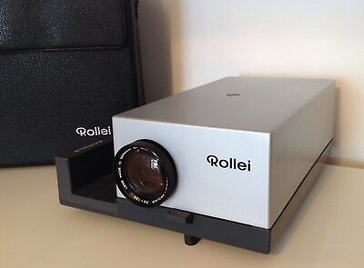 Vintage Rollei Slide Projector P35E Made In Singapore Case Remote & Power Lead