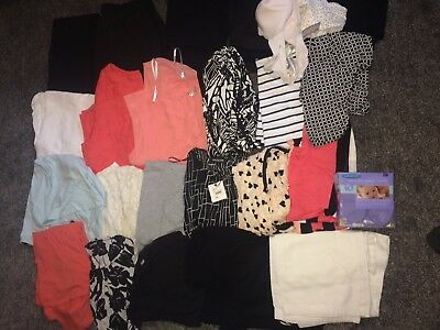 Maternity Breastfeeding Clothes Size 12/10 Bundle New Look Asos Tops Leggings