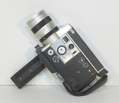 Cinepresa Canon auto Zoom 814 electronic super 8 film lente 1,4 / 7,5 - 60 mm