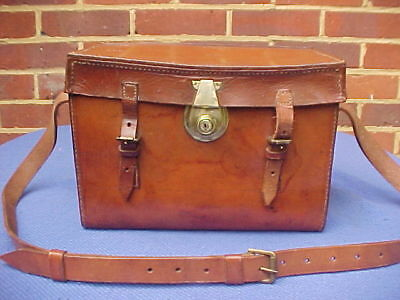 Vintage Hardy Brothers Block Leather  Fly Fishing Tackle Box Cartridge Case