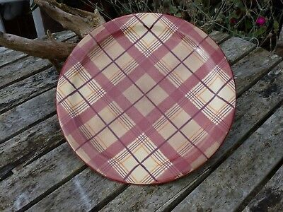Large Charger/Plate By Anta Of Scotland Decorated In Iona Macdonald Tartan.