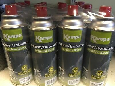 Kampa 227g Butane Gas Cylinder refill Pack Of 4 Self Sealing Canister CP250