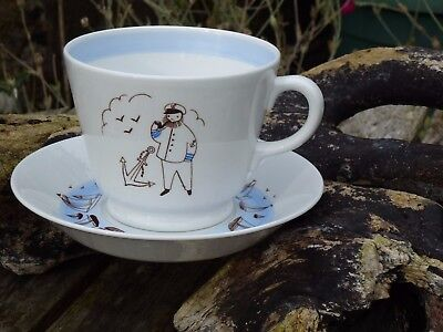 Arabia Large Cup And Saucer Made In Finland.