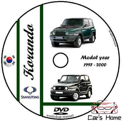MANUALE OFFICINA SSANGYONG my 1997 - 2000 WORKSHOP MANUAL DVD