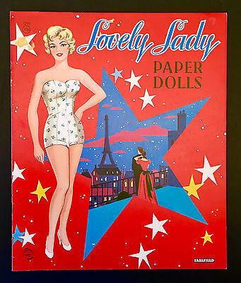 """Lovely Lady"" Reprint Faye Emerson Uncut Paper Dolls Vintage"