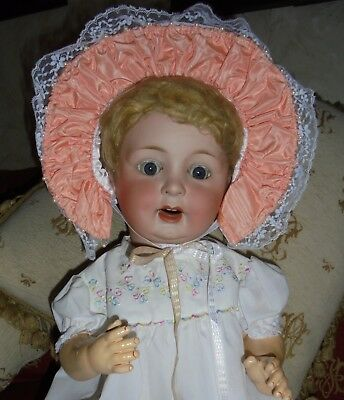 Cute Large 24 Inch P M 914 Character Baby With Faults.
