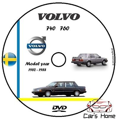 MANUALE OFFICINA VOLVO 740 & 760 my 1982-1988 WORSHOP MANUAL DVD