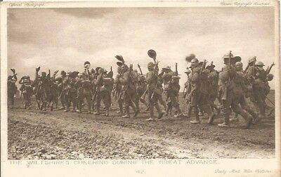 Daily Mail War Pictures, postcard: The Wiltshire Rgt During the Great Advance