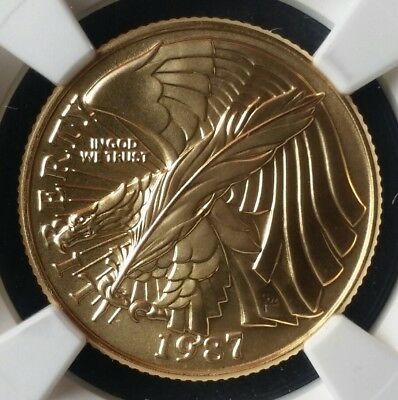 1987 W $5 Gold Constitution Commemorative NGC MS70