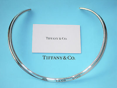 TIFFANY & Co ARGENT STERLING 1837 COL MANCHETTE COLLIER