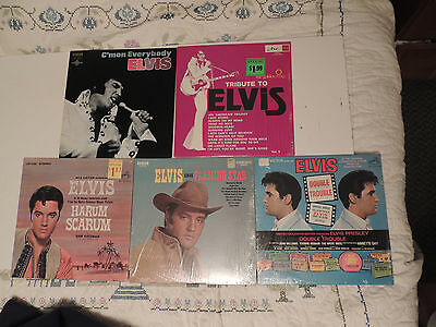 Lot of 5 Vintage Elvis Presley LP Record 33 rpm Good Condition RCA ARC Harum
