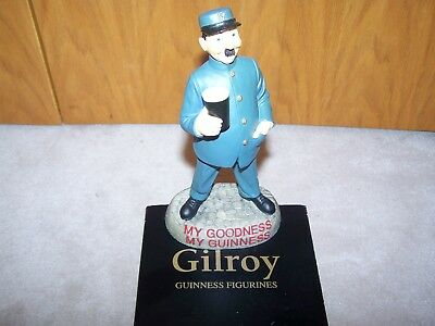 Gilroy GUINNESS Ale Beer ZOO KEEPER Ireland Irish Chalk Statue Pint Glass Carlin
