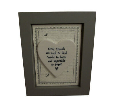 East of India Good Friends Are Hard To Find Print - Wall Plaque - Friend Gift