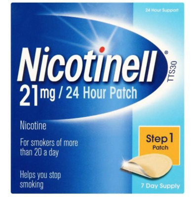 Nicotinell Nicotine 21mg 24 Hour Patches Step 1 7 - quit smoking fast !