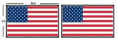 American Flags! 5in X 2.6in Magnetic Car Sign 5 Pack