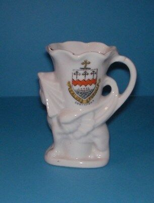 Fairy Ware Crested China  Winged Sphink Jug Southport Crest