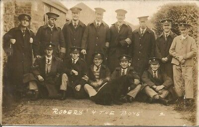 Military Postcard, WWI wounded soldiers