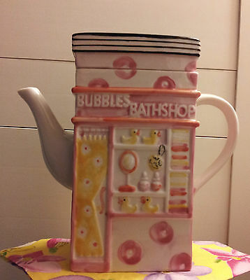Msrf Inc. Double-Sided Teapot: Bubbles Bathshop/beachwear!!!