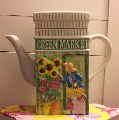 Msrf Inc. Double-Sided Teapot: Green Market/lemonade!!!