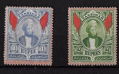 Zanzibar 1896 Pair of High Values MH/MNG ( See both scans}