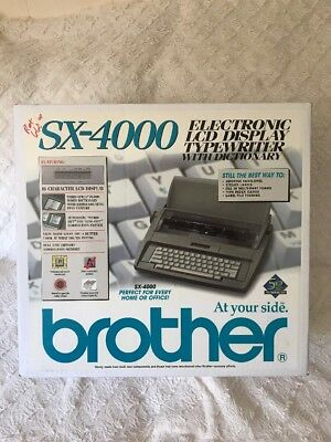 Brother SX-4000 Electronic LCD Display Typewriter with Dictionary No Daisy Wheel
