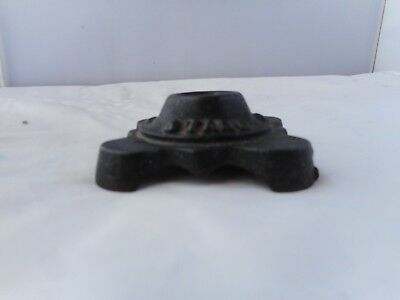 ANTIQUE CAST METAL POKER STAND BASE-7x7cms and 2.5cms high