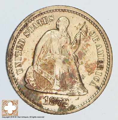 1872-S Seated Liberty Silver Half Dime *SB57