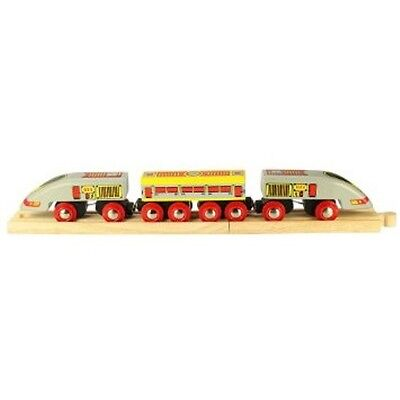 BigJigs Bullet Train BJT420 Wooden Railway Preschool Toys Brio Compatible