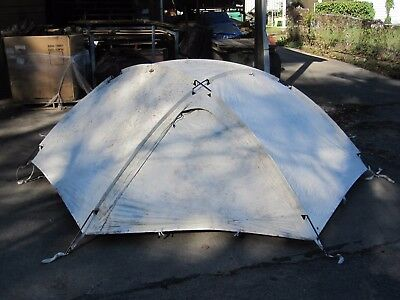 Used ECWT Artic Rain Fly With Poles Eureka Four Season USMC With Blk-Out + Bag
