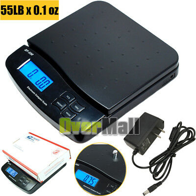 55LBx0.1OZ Digital Postal Shipping Scale Weight Postage Kitchen Counting+Adapter