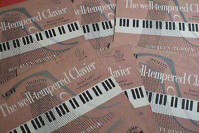 AXTL 1036-41 Bach The Well-Tempered Clavier Rosalyn Tureck Piano BRUNSWICK UK LP