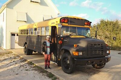 Converted School Bus/RV with Solar Panels
