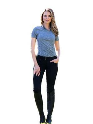 Goode Rider Jean Rider Riding Breeches with Lower Rises Knee Patch
