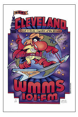 """""""CLEVELAND- ROCK n' ROLL CAPITAL of THE WORLD"""" WMMS BUZZARD POSTER-DAVID HELTON"""
