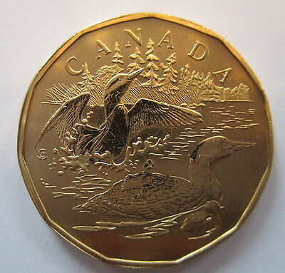 2002 Canada $1 Family Of Loons Specimen Loonie Dollar Coin