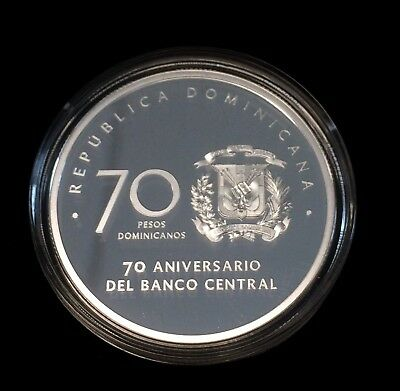 Dominican Republic 2017 70 Pesos Silver Proof Only 2000 Minted.