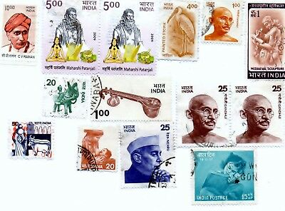 14 India Stamps ,  1947-Now
