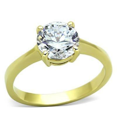 Huge 13ct Round Cubic Zircon CZ AAA Engagement Ring Size 5 6 7 8 9 10 GL143