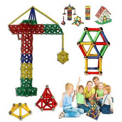 New Magnetic Rods Children Creative Manual Material Magnetic Blocks Toy BL 103PC