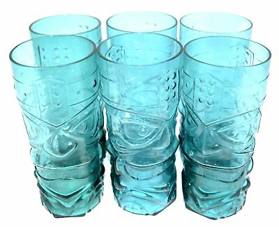 Set of 6 African Cup Tiki Glass,Hawai Glassware, Delicay Health Elegant shape