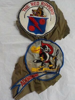 2 Vintage Navy Patches~Removed fr Flight Suit