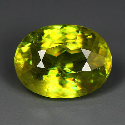 3.14 Cts_World Class Limited Edition_100 % Natural Titanite Green Sphene_Russia