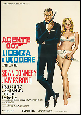 James Bond Sean Connery Job Lot 5 Vintage Movie Posters Laminated 11 X 8 Inch