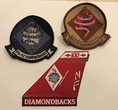 "US Navy Patch Lot: VFA-102 ""Diamondbacks"" F-18 Hornet  (3 Patches)"