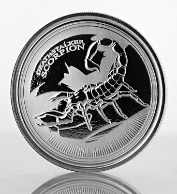 DEATHSTALKER SCORPION - 2017 1 oz Silver Proof-Like Coin - Republic of Chad