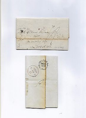 Wales Pre-Stamp 1827-8, Swansea 209 To Solicitors In London